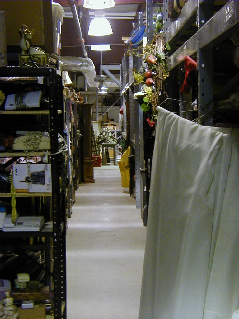 Prop storage at Chattanooga Theatre Centre